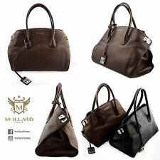 COCCINELLE BROWN LEATHER HANDBAG BORSA DOPPIO MANICO PELLE MARRON GRANO NATURALE
