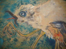 LISTED CANADIAN ARTIST DOROTHY HENZELL WILLIS (1899-1988) PAINTING ABSTRACT BIRD