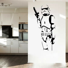Cool stormtrooper star wars vinyl wall sticker Mural art decal games room decor