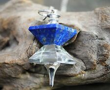PD5 ~ LAPIS LAZULI AND CRYSTAL QUARTZ DOUBLE PYRAMID PENDULUM ~ HEALING DOWSING