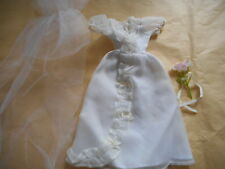 BARBIE ~ FRIEND ~ WEDDING GOWN ~ VEIL ~ BOUQUET