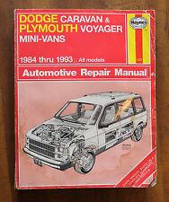 Haynes Dodge Caravan Plymouth Voyager Mini-Vans 1984 - 1993 Haynes 1231