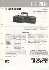 SONY Service Manual Konvolut CFS-204S/204L/204/203L - B2039