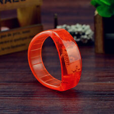 Sound Voice Activated Music LED Light Wristband Bracelet Bangle Party Outdoor