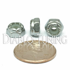 #6-32 NM - Qty 10 - Nylon Insert Hex Lock Nut UNC - A2 Stainless Steel 18-8