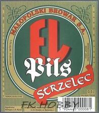 Poland Brewery Jędrzejów Piwo EL Strzelec Beer Label Bieretikett Cerveza je71.1
