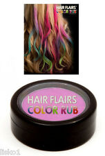 Hair Flairs Color Rub, Temporary Vibrant Fun Hair Colors   .14 oz. (violet) LMS