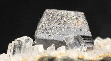 SUPERBLY FORMED 4 MM ANATASE CRYSTAL ON SPARKLING CALCITE! FROM NORWAY !