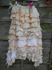 RITANOTIARA MAXI LONG CREAM BIBI OTT FRILLY RUFFLE SKIRT ROMANTIC BOHO GYPSY