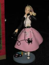 2001 1950s Barbie Keepsake Ornament Hallmark Barbie in Poodle Skirt NRFB