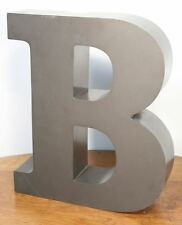 "Large Vintage Letter ""B"" Sign. Metal Construction Neon. Car Dealer Salvage"