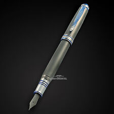 Grayson Tighe Titanium Tighe Two Blue LE Fountain Pen #2