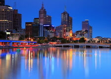 MELBOURNE AUSTRALIA NEW A2 CANVAS GICLEE ART PRINT POSTER