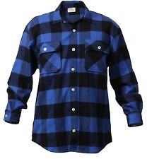 Extra Heavyweight Brawny Buffalo Plaid Flannel Shirt Long Sleeve Rothco 4739