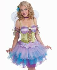 Faerie Sexy Daydream Fairy Pixie Sprite Spirit Green Blue Womens Adult Costume