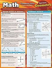 Math Common Core Geometry 10Th Grade by Inc. BarCharts (2014, Book, Other)
