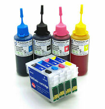 Refillable Ink Cartridge Kits fits Epson SX205 SX400 SX405 SX410 SX415 NON-OEM