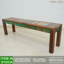Nirvana Recycled reclaimed old timber Dining Table 150cm bench garden seat for 4