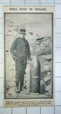 1915 12 Inch German Shell War Trophy After Failing To Explode