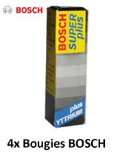 4 Bougies FR8DC+ BOSCH Super+ FIAT SEICENTO (187) 1.1 54 CH