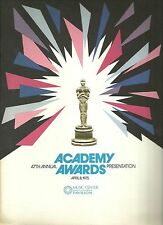 47th ACADEMY AWARDS: OSCARS PROGRAM 1974 Frank Sinatra, The Godfather Part II