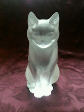 Lalique France Frosted Crystal Cat