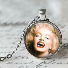 New Monroe Cabochon Tibetan silver Glass Chain Pendant Necklace #/3