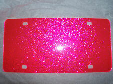 "Blank Pink Sparkle Acrylic License Plates 12"" x 6"" (wholesale)"