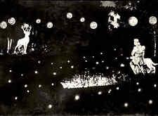 WILDBAD bei Nacht Schwarzwald 50/60er Jahre Enz-Beleuchtung alte Ansichtskarte