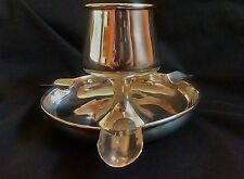 1903 Hallmarked Silver Art Nouveau Tulip Form Match Holder / Ash Tray