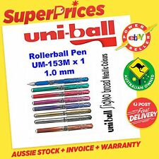 UNIBALL SIGNO BROAD GEL INK UM-153M x 1 METALLIC PEN MARKER 1 MM ART *8 COLOURS*