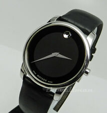 Mens Authentic Swiss Movado Museum Classic Stainless 40mm 0606502 Black Watch