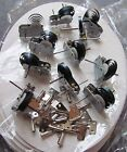10 x Clockwork motors with keys. NEW Clock work wind up educational