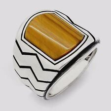 Turkish Ottoman Tiger's Eye Gemstone 925 Sterling Silver Men Ring