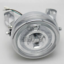 Motor Chrome Metal Retro Front LED Headlight+Mount For GN125 Cafe Racer Bobber