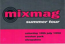 MIXMAG Rave Flyer Flyers A6 18/7/92 Weston Park Shropshire THE PRODIGY (live)