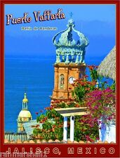 Puerto Vallarta Jalisco Mexico Beach Mexican Travel Advertisement Art Poster