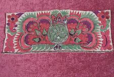 ANTIQUE 19TH C ETHNIC HAND EMBROIDERED PANEL FOR DRESS