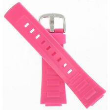 Casio 23/14mm Pink Resin Fits BGA-110-4BD Good Deal Watch Band 10392627
