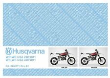 Husqvarna Parts Manual Book 2011 WR 250 & WR USA 250 / WR 300 & WR USA 300