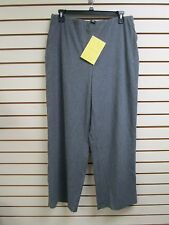 QVC Dialogue Brushed Twinstretch Wide Leg Pants Charcoal Grey 18W - NWT