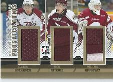 2012-13 ITG Heroes and prospects Trios KOEKKOEK RITCHIE GIUGOVAZ # PT-02 Gold