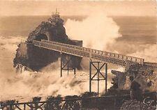 BR6818 Biarritz Le Rocher de la Vierge par gros temps    france