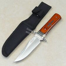 "8"" Silver Cross Hunting Survival Knife Sharp 440Stainless Blade Micarta Handle r"
