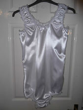 ADULT BABY~MAIDS~SISSY~UNISEX GORGEOUS SATIN & LACE TRIM  ALL-IN-ONE BODY~TEDDY
