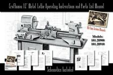 "Craftsman 12"" Metal Lathe Operating and Parts List Manual 101.28900 & 101.28910"