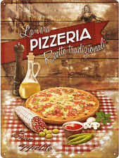 Pizza Pizzeria Food Drink Cafe Diner Italian Bistro Large 3D Metal Embossed Sign