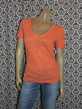 Old Navy Maternity Coral Burnout V Neck Cap Slv Tee T Shirt Womens XL XLARGE NEW