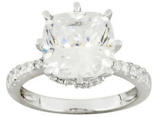 Bella Luce Engagement Ring W/8.13ctw CZ in Rhodium Plated 925 Sterling silver
