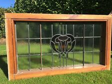 Stained Glass Leaded Window With Wood Surround Stunning